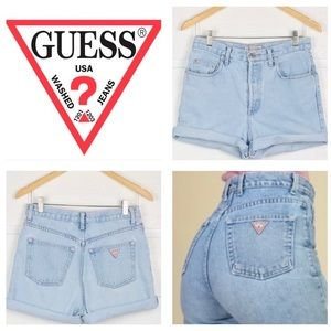 Guess vintage stone wash jean shorts size 28